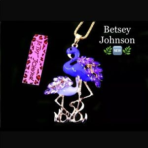 Betsey Johnson Flamingo Necklace ➰🆕🌿🆕➰